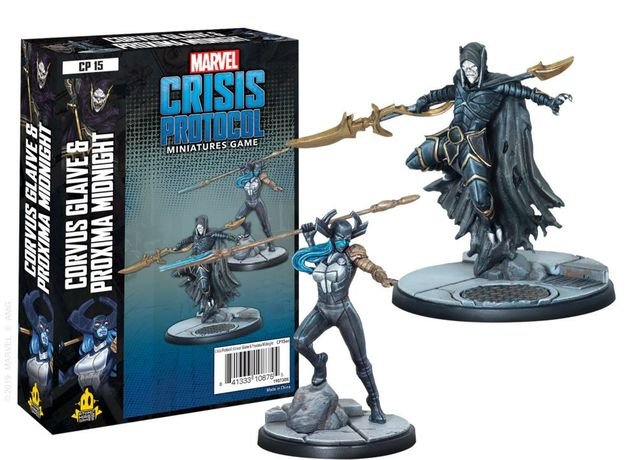 Marvel Crisis Protocol Miniatures Game Corvus Glaive and Proxima Midnight Expansion