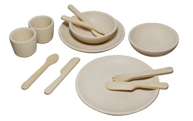 PlanToys - Wooden Tableware Set