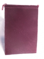 Suede Cloth Dice Bag (Large, Burgundy)