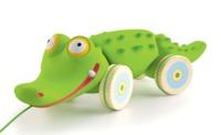 Djeco: Croc n Roll - Pull Along Pal