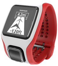 TomTom Multi-Sport Cardio Watch - White/Red image