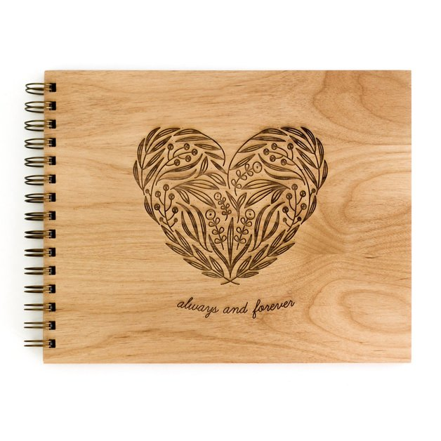 Cardtorial Wooden Guestbook - Always & Forever