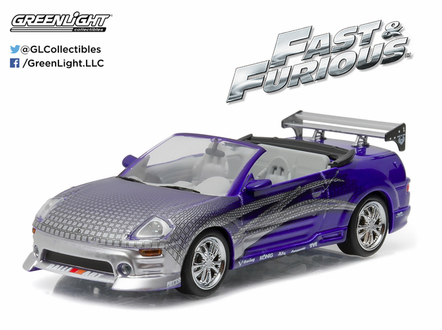 1/43: 2001 Mitsubishi Eclipse Spyder - 2 Fast 2 Furious - Diecast Model