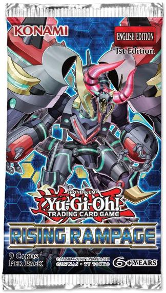 Yu-Gi-Oh! Rising Rampage Single Booster (9 Cards)