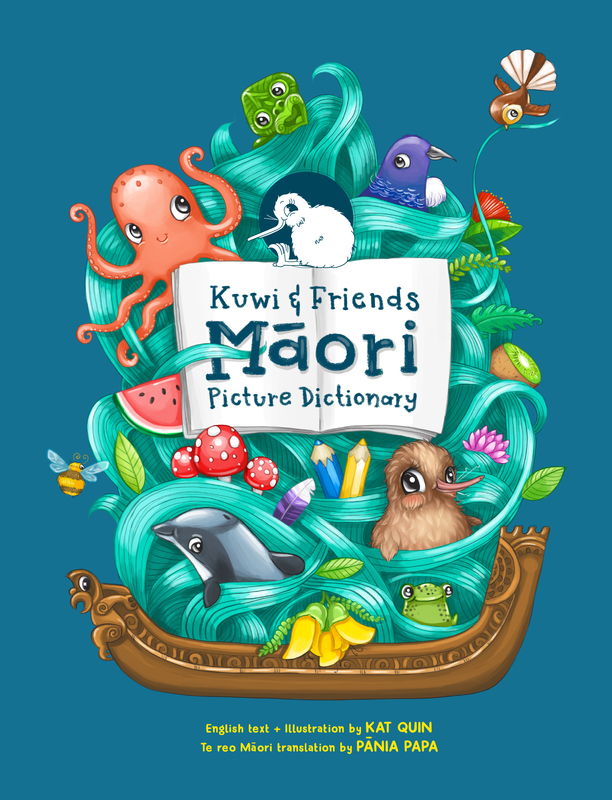 Kuwi & Friends Māori Picture Dictionary by Kat Merewether