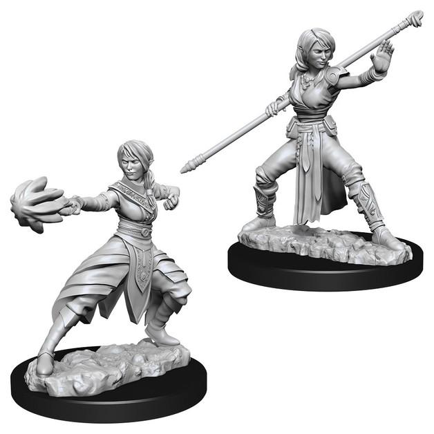 D&D Nolzur's Marvelous: Unpainted Miniatures - Female Half-Elf Monk