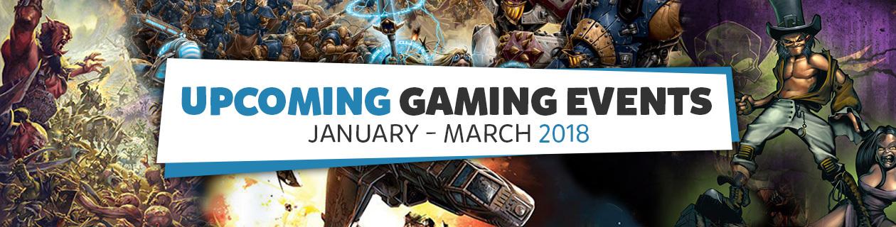 Upcoming Gaming Events