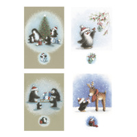 Paper House: Kids Cube Boxed Christmas Cards - Penguins (20 Pack)