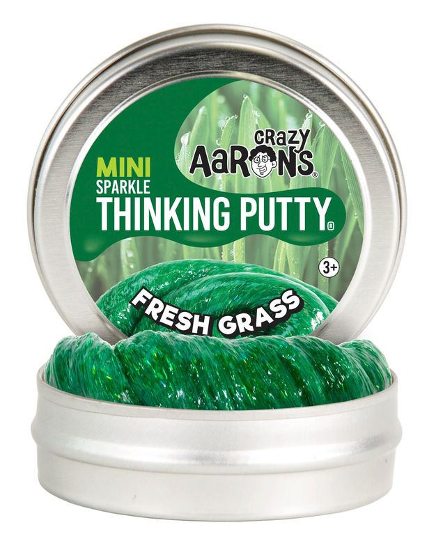 Crazy Aarons Thinking Putty: Fresh Grass - Mini Tin