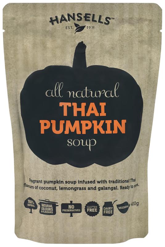 Hansells: All Natural Soup - Thai Pumpkin (6 x 400g)