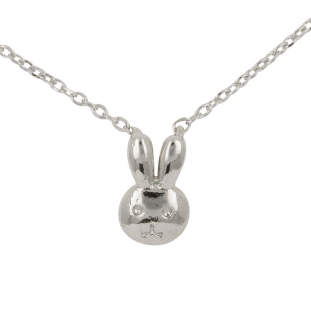 Short Story: Bunny Bubble Necklace - Silver