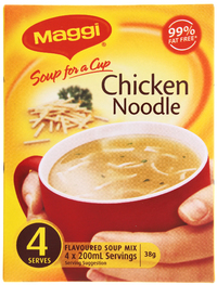 MAGGI Soup for a Cup Chicken Noodle 38g 4pk