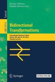 Bidirectional Transformations