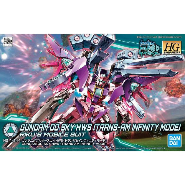HGBD 1/144 Gundam 00 Sky HWS (Trans-Am Infinity Mode) - Model Kit