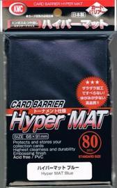 KMC: Full Sized Hyper Matte Sleeves 80ct (Blue)