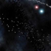Asteroid Belt Vinyl Space Mat (3x3)