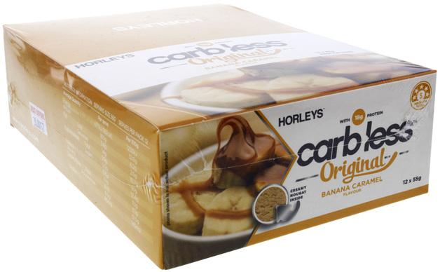 Horleys Carb Less Original Bars - Banana Caramel (12 x 55g Pack)