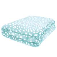 Bambury Queen Cosmos Ultraplush Blanket (Glacier)