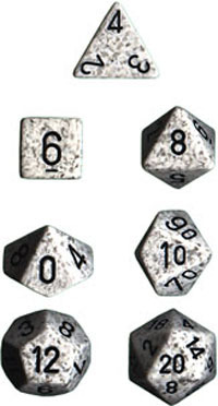 Chessex Speckled Polyhedral Dice Set - Arctic Camo