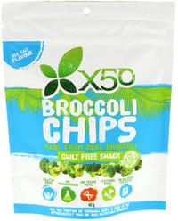 X50 Broccoli Chips - Rock Salt (40g)
