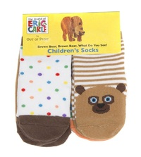 Brown Bear: Children's Socks - 0-12 Months (4 Pack)