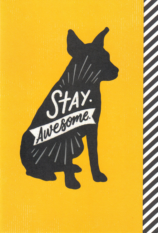 Woof & Purr Greeting Card - Stay Awesome
