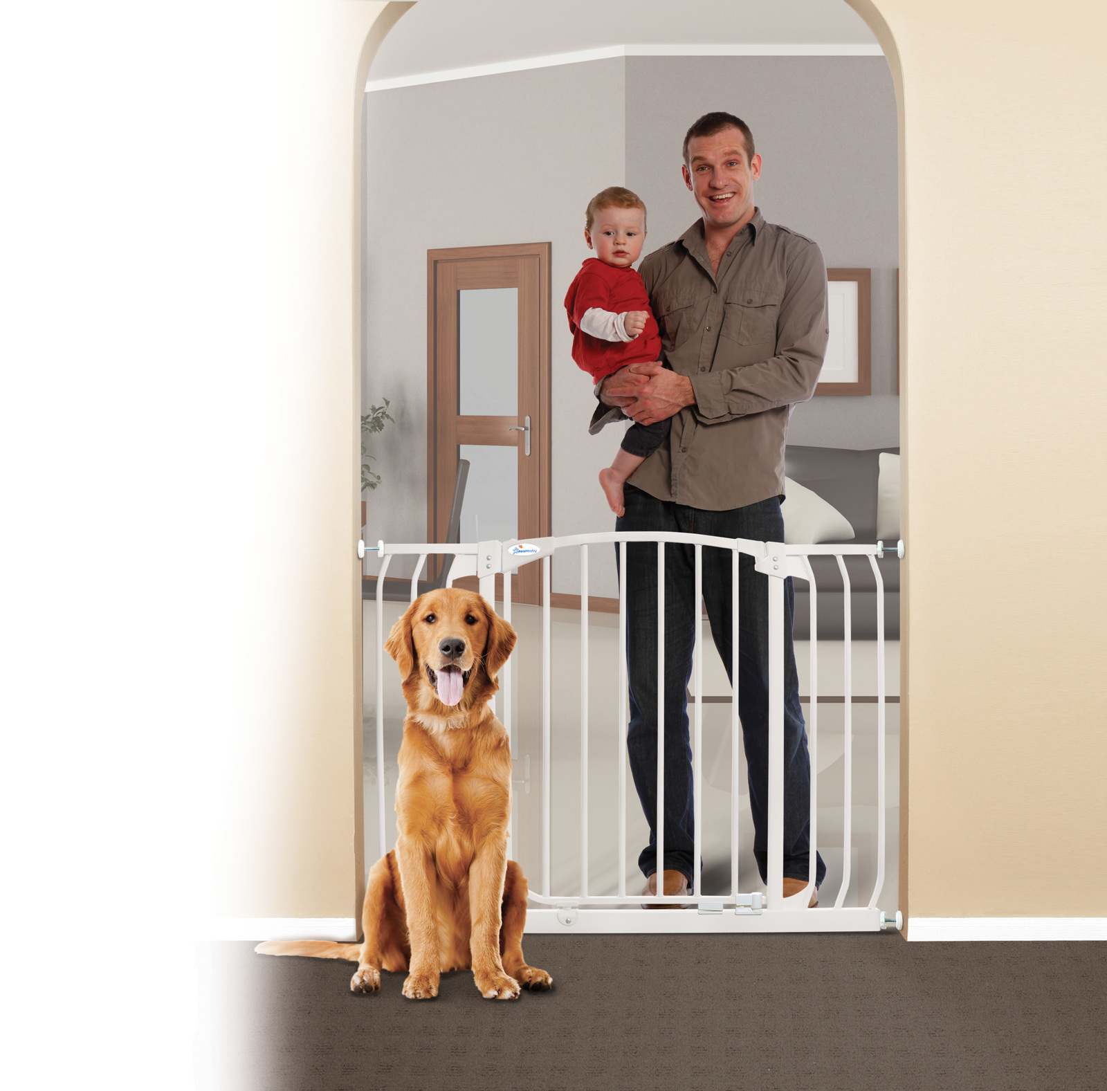 Dreambaby Chelsea Hallway Safety Gate - White image