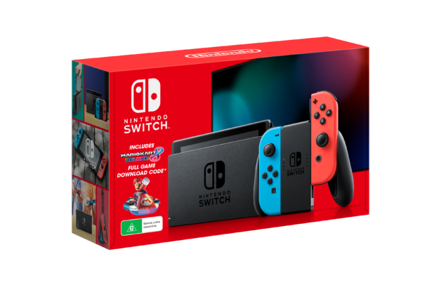Nintendo Switch Mario Kart 8 Deluxe Neon Console Bundle for Switch