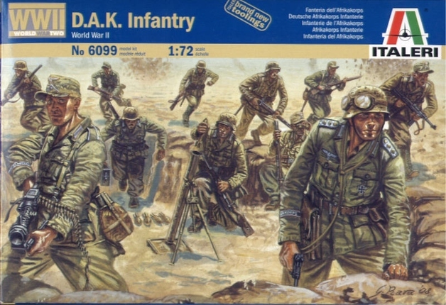 Italeri German D.A.K Infantry (WWII) 1:72 Model Kit