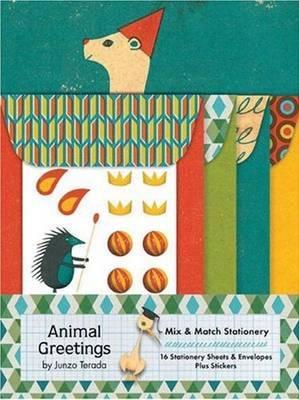 Animal Greetings Mix and Match Stationery Set (Junzo Terada) by Junzo Terada image