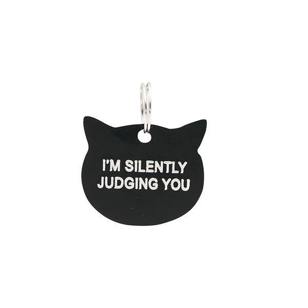Cat Tag: Silently Judging (Black) image
