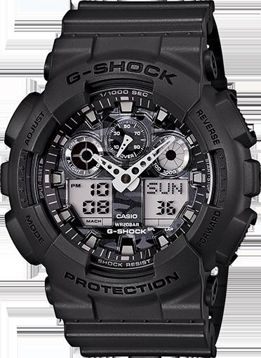 Casio G-Shock Analogue/Digital Mens Camouflage Grey Watch GA100CF-8A GA-100CF-8A