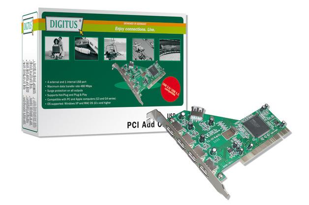 Digitus USB 2.0 PCI Card 4 + 1 Ports