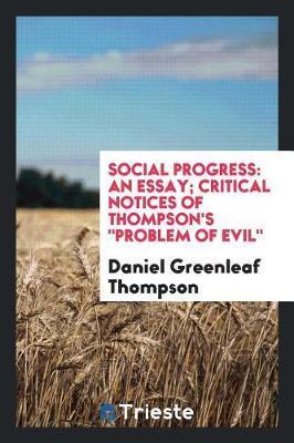 Social Progress by Daniel Greenleaf Thompson