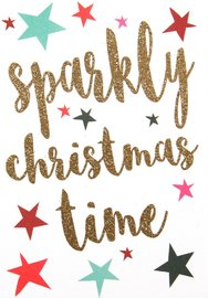 Caroline Gardener: Small Card - Sparkly Christmas Time (5 Pack)