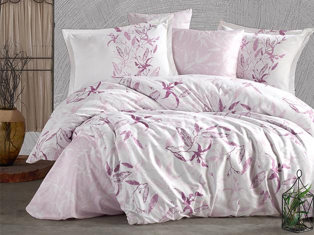 Queen Size Duvet Cover Set - Pink