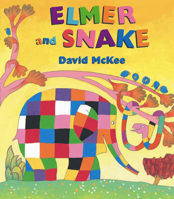Elmer and Snake by David McKee image