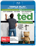 Ted - Triple Play on DVD, Blu-ray, DC