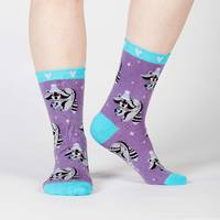 Women's - Winter Raccoon Crew Socks image
