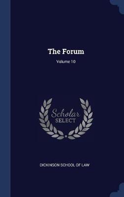 The Forum; Volume 10 image