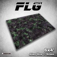 FLG Alien Hive Green Neoprene Gaming Mat (6x4)