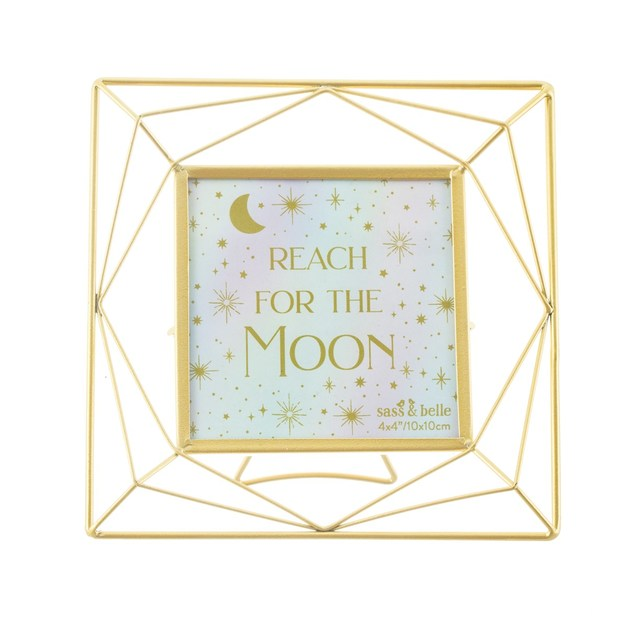 Sass & Belle: Trapeze Gold Square Photo Frame