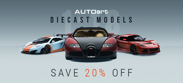Save 20% off AUTOArt Diecast Models!