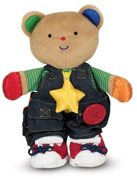 Melissa & Doug: Teddy Wear - Activity Plush