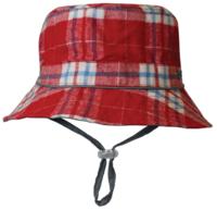 Black Ice: Trecker Red Bucket Cap - (2-4 Years)