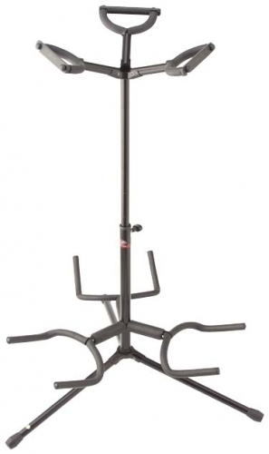 stagg universal triple guitar stand black at mighty ape nz Double Neck Kramer Guitar stagg universal triple guitar stand black