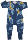 Bonds Zip Wondersuit Long Sleeve - Crouching Tiger (3-6 Months)