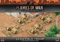 Flames of War: Desert Rats - 25 pdr Field Troop