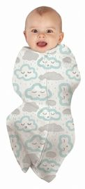 Baby Studio: Cotton Swaddlepouch - Peppermint Clouds (Small)