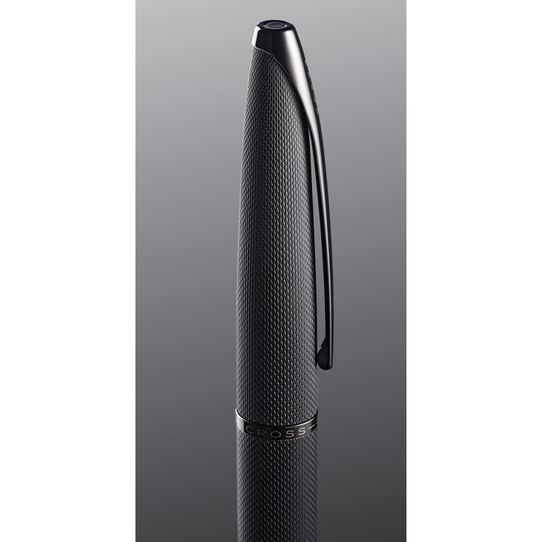Cross: ATX Brushed Black Etched Diamond Fountain Pen [Medium Nib] image